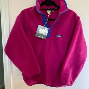 NWT💜Patagonia Synchilla Snap-T Pullover (Girls-L)